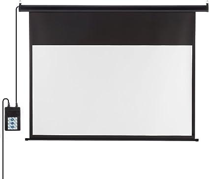 Beamer Leinwand Elektrisch 221 Cm X 125 Cm 100 Zoll Amazon De Elektronik