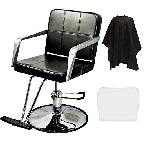 LCL Beauty Salon Hydraulic Barber Styling Chair with FREE Deluxe Cutting Cape