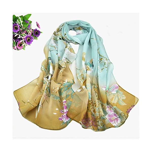 UONQD Lady Womens Long Cute Dragonfly Print Scarf Wraps Shawl Soft Scarves