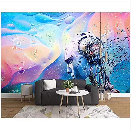 Smydp Wall Stickers Murals Wallpaper Photo Mural Electro-Acoustic Fashion Music Bar Ktv Room Wallpaper for Walls 3D Wall Muals Wall Paper,280X200Cm