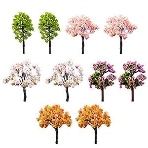 10X milopon Mini Decorativa da giardino micro paesaggio decorazione albero in miniatura in resina per casa delle bambole Mobili per casa delle bambole Mobili da giardino arredamento giardino 2 spesavip