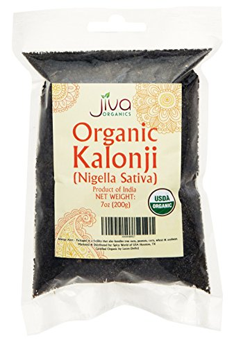 Black Cumin Seed (Jiva USDA Organic Kalonji Whole (Black Seed, Nigella Sativa, Black Cumin) 7oz)