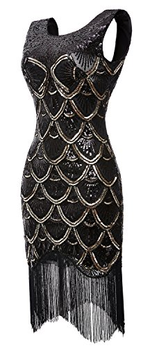 QNPRT Gatsby Flapper Beaded Dresses