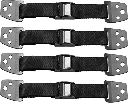 TV Straps Safety & Anti-Tip Furniture Straps – Set of 4 Straps – All Metal Parts – Heavy Duty Anchors – Includes Baby Safety Locks – Easy Child Proof Anchor Furniture Straps – 1st Quakehold Straps