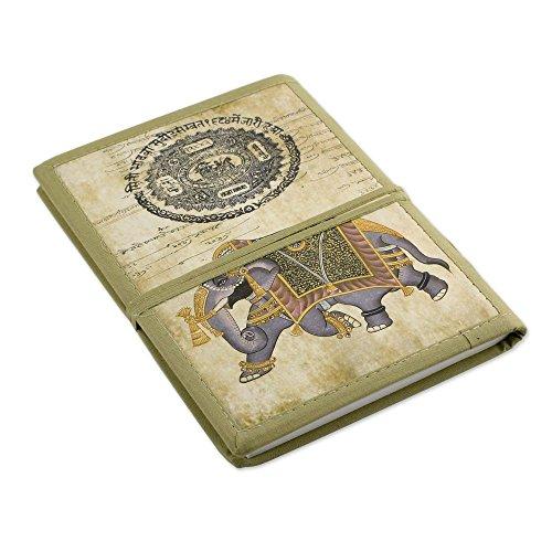 Novica Mughal Indian Elephant Handmade Paper Journal