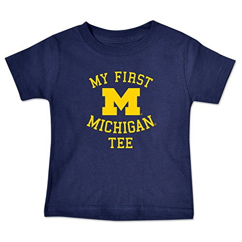 [NCAA Michigan Wolverines Infant Short Sleeve Tee, 6 Months, Navy] (Michigan Wolverines Clothing)