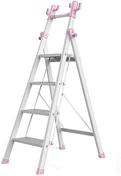 Escalera plegable Escalera portátil, Sala de estar Escalera de cuatro peldaños Escalera de dormitorio plegable Escalera de cinco escalones de metal Escalera multifunción Multifuncional: Amazon.es: Bricolaje y herramientas