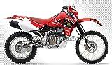 Kungfu Graphics Acerbis Custom Decal Kit for Honda XR650R 2000 2001 2002 2003 2004 2005 2006 2007 2008 2009 , Red White