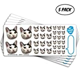 Custom Photo Stickers, Face Stickers, Stickers of Your Pet, Elite Sampler Sheet - 5 Pack - Pet Gift