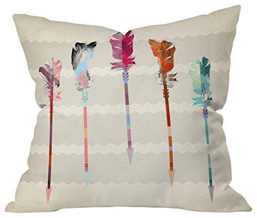 """Deny Designs Valentina Ramos Hello Birds Outdoor Throw Pillow,  16"""" x 16"""""""
