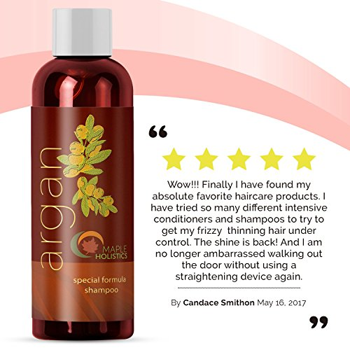 Pure Argan Oil Hair Growth Therapy Shampoo - Sulfate Free Dandruff Shampoo - Natural Treatment for Hair Loss for Men - Hair Regrowth Treatment for Women - Damaged Hair Repair - Thicker Fuller Hair