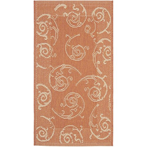 Natural Cy2665 Courtyard - Safavieh Courtyard Collection CY2665-3202 Terracotta and Natural Indoor/ Outdoor Area Rug (2' x 3'7