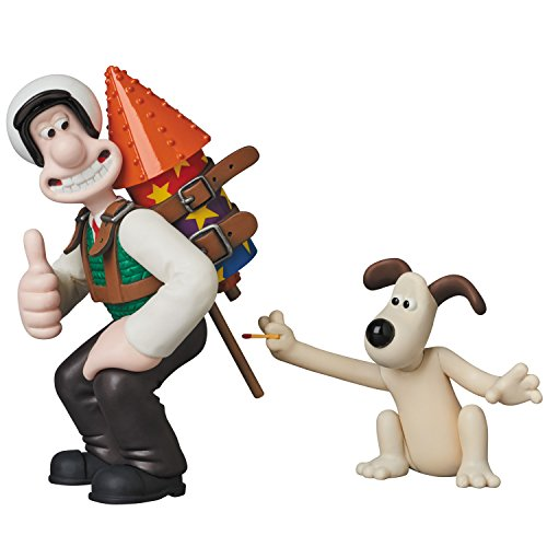 - Medicom Aardman Animations 2: Wallace & Gromit Ultra Detail Figure, Multicolor