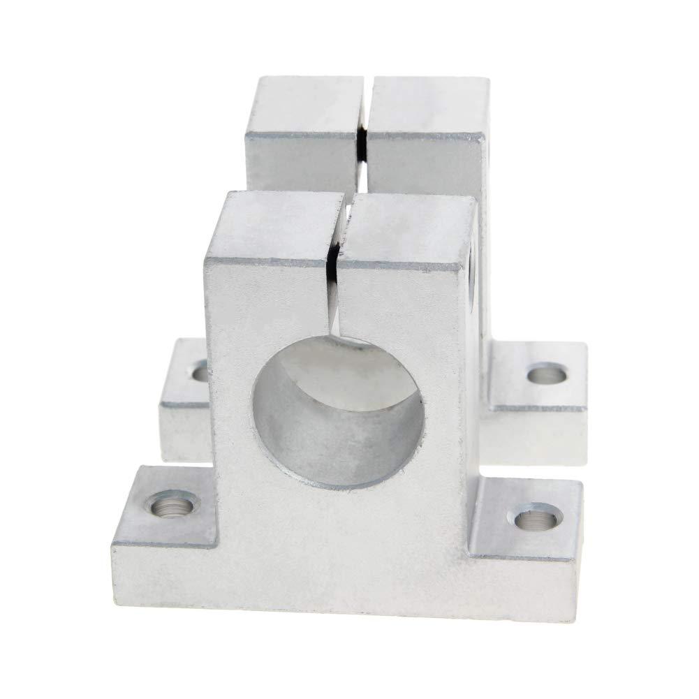 Othmro SK20 20mm Diameter Aluminum Alloy Linear Rail Support Guide Shaft Bearing CNC Router 4pcs