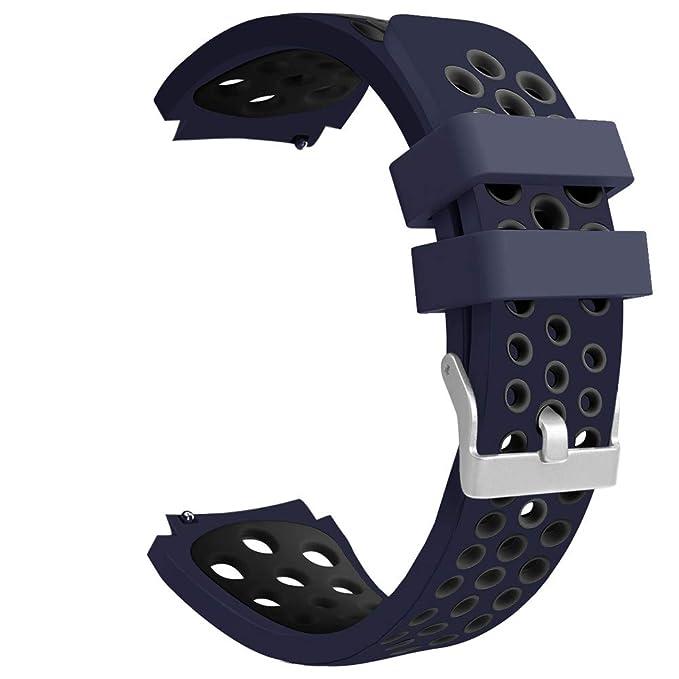 riou Electrónica Riou_Correa para Reloj,para el Reloj de Samsung Galaxy 46mm Banda de la Correa de la Pulsera del silicón de los Deportes del Doble Color ...
