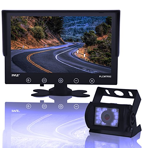 Backup Rearview Camera Monitor System - Car Truck Reverse Parking Waterproof Monitor Kit w/ 9