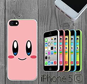 Cartoon Girl Cute Kirby LOL Custom made Case/Cover/Skin FOR iPhone 5C Color -White- Rubber Case (Ship From CA)