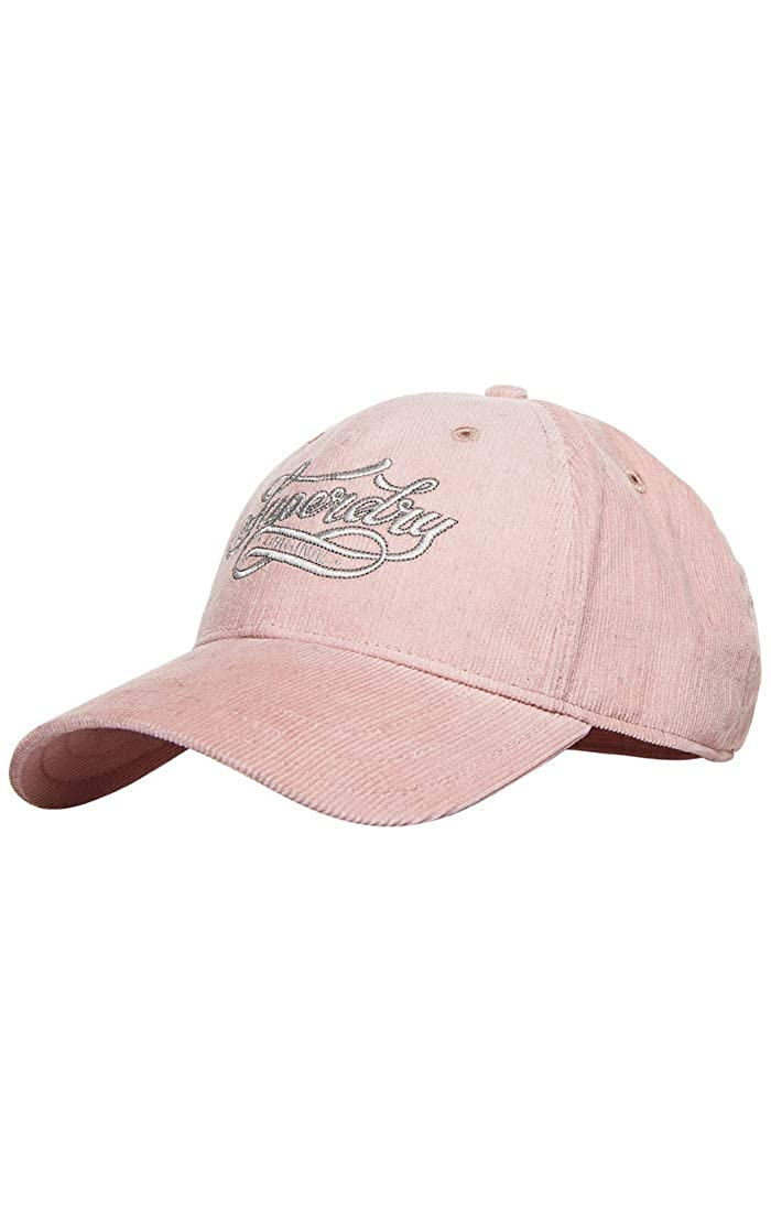 Pink Blush 52I One Size Superdry Womens Baby Cord Cap Baseball