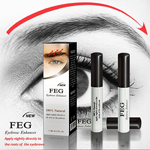 BEST Eyebrow Growth Product Most Effective Growth Serum to LENGTHEN & THICKEN Eyebrows; FEG is a Powerful Stimulator. Prevents Thinning & Breakage; 100% Original with Anti-Fake sticker!!!