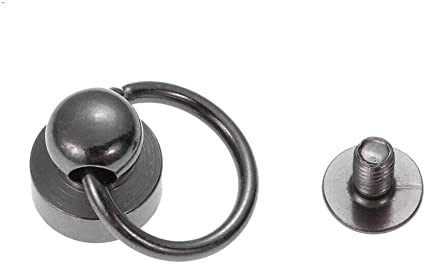 50pcs Ball Post avec O ring rivets rivets clous tête ronde Chicago Vis
