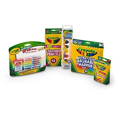 Crayola Starter Pack with Crayons, Colored Pencils and Marke
