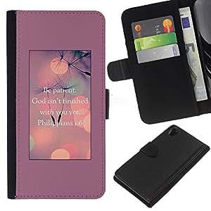 iBinBang / Flip Funda de Cuero Case Cover - God Motivational Inspirational - Sony Xperia Z2 D6502 D6503 D6543 L50t