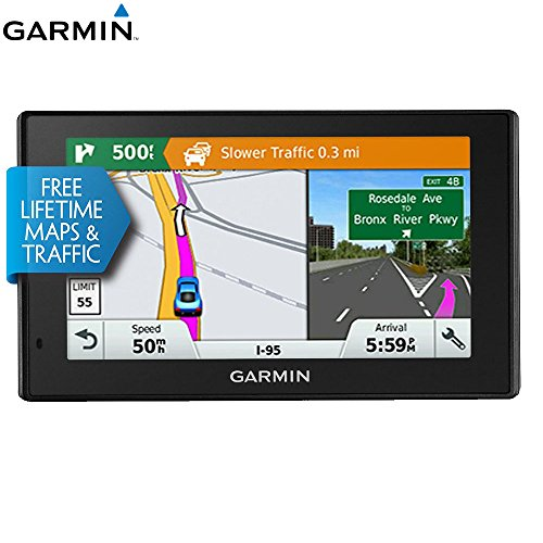 Garmin 010-01539-01 DriveSmart 50LMT GPS Navigator - (Renewed)]()