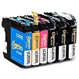 Kogain 6-Pack Compatible Replacement for Brother LC203 LC203XL Ink Cartridges, Work with Brother MFC-J480DW MFC-J880DW MFC-J460DW MFC-J4620DW MFC-J4420DW MFC-J5520DW MFC-J680DW MFC-J5720DW Printer