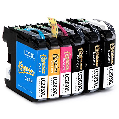 Kogain 6-Pack Compatible Replacement for Brother LC203 LC203XL Ink Cartridges, Work with Brother MFC-J480DW MFC-J880DW MFC-J460DW MFC-J4620DW MFC-J4420DW MFC-J5520DW MFC-J680DW MFC-J5720DW Printer by Kogain