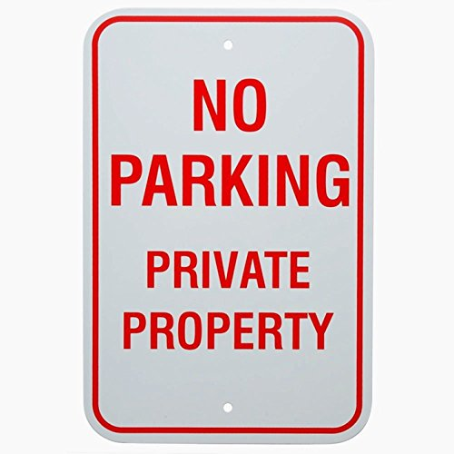 - 1-Pc First-Rate Unique No Parking Private Property Sign Exterior Warning Declare Vehicles Yard Decal Handicap Wheelchair Custom Only Reserved Cars Garage Placard Lawn Fine Size 12