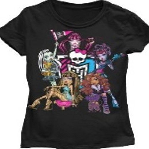 Cheer Shield Junior Monster High T-Shirt (Small, Black)