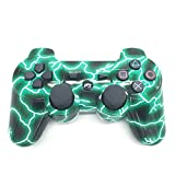 PowerRider New Style Bluetooth Wireless gamepad for PS3 Dual shock PS3 Game Controller Gamepad Joypad for Sony Playstation 3(lightning)