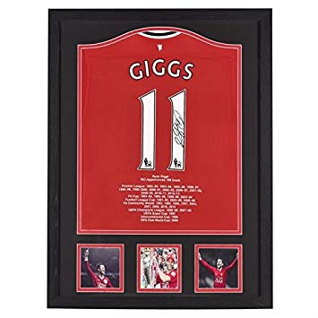 Ryan Giggs Hand Signed Football Shirt Framed Authentique: Amazon.co ...