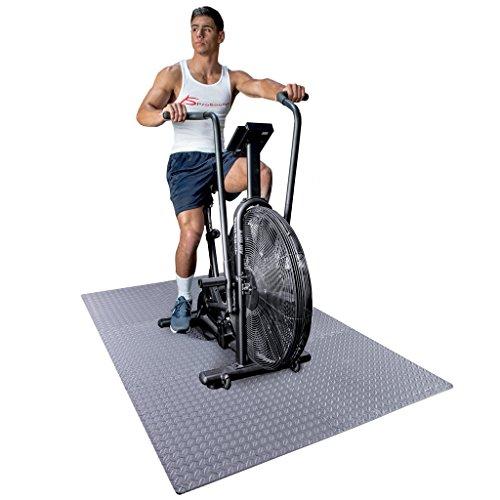 Colchoneta de ejercicios ProsourceFit Puzzle, baldosas de espuma EVA que se entrelazan, pisos protectores para equipos de gimnasio y cojines para entrenamientos