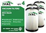 dirt devil filter f3 - Dirt Devil F3 HEPA Filter - 4 Pack - Similar to Dirt Devil F-3 Part # 3-250435-001 or 3250435001 - Made by ZVac