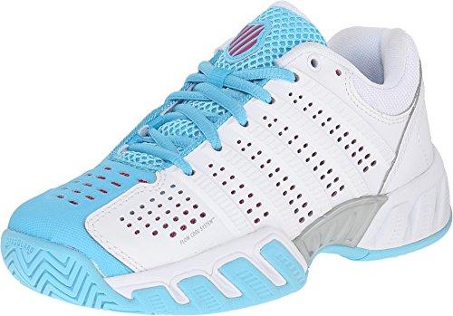 K-Swiss Juniors` Bigshot Light 2.5 Tennis Shoes White and Bachelor Button (1.5)