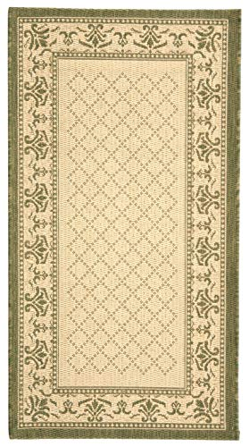 Safavieh Courtyard Collection CY0901-1E01 Natural and Olive Indoor/ Outdoor Area Rug (6'7