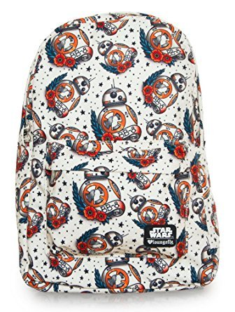 Loungefly Star Wars BB-8 Tattoo All Over Print School Backpack