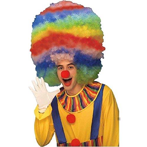 Mega Jumbo Rainbow Afro Wig Costume Accessory Adult (Jumbo Afro Adult Wig)