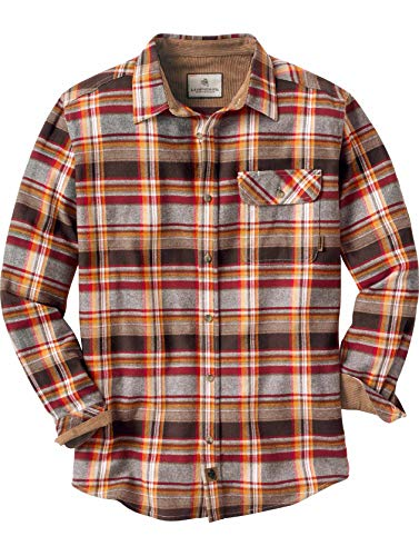Legendary Whitetails Men's Buck Camp Flannels Cardinal Chocolate Plaid Large -