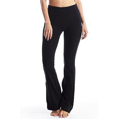 Newport Blvd Women's Yoga Pants Cotton Foldover Flared Stretchy