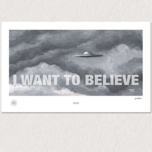 'I Want to Believe' Artwork Print, X-Files I Want To Believe Poster, John Padlo