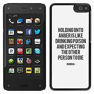 EJOY---Cubierta de la caja de protección para la piel dura ** Amazon Fire Phone ** --problema de ira de texto a mantener la calma de motivación