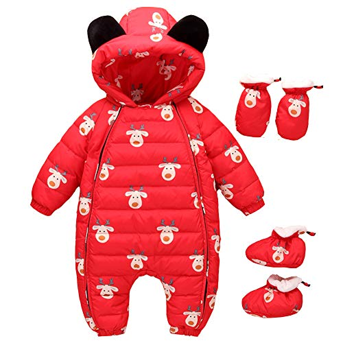 Winter Snuggly Romper Girl Boy Romper Warm Pieces 3 Red Jumpsuit Fairy Snowsuit Baby Baby xwq148S