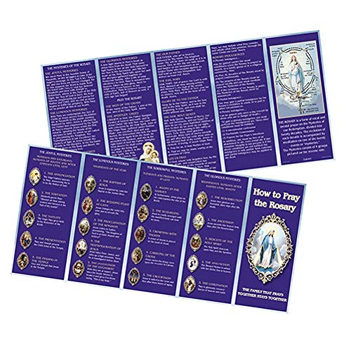 Rosary Prayer Cards (JMJ Products, LLC How to Pray the Rosary Tri Fold Color Flyer)