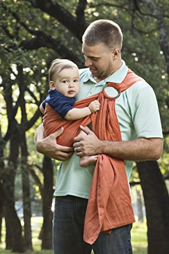 Bibetts Pure Linen Ring Sling Baby Carrier – CPSIA compliant – Infant, Toddler and Baby Carrier Adobe