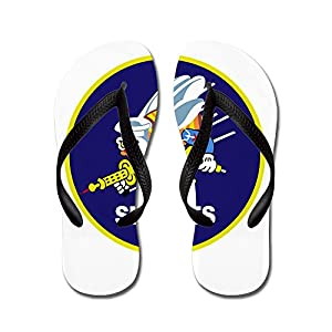 CafePress - Seabees_Navy - Flip Flops, Funny Thong Sandals, Beach Sandals by CafePress