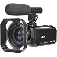 4K Camcorder with Microphone Ultra-HD 48MP Digital Camera 3.0 Touch Screen Function WiFi Digital Video Camera IR Night Vision Camcorder with lens