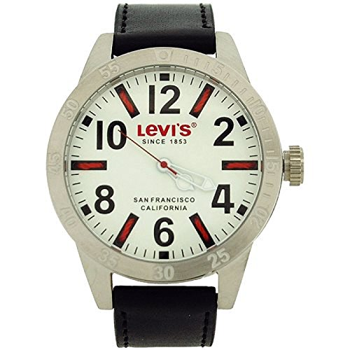 Levi S Gents Analogue Thread Index White Dial Black