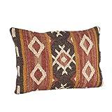 SARO LIFESTYLE 570.M1623B Kilim Design Down Filled Throw Pillow, Multi, 16'x23'